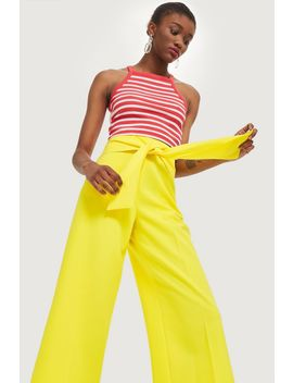 Tie Waist Bonded Culottes by Topshop