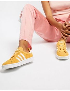 Adidas Originals Campus Trainers In Yellow by Adidas