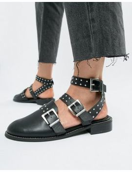 Asos Design Mews Studded Flat Shoes by Asos Design
