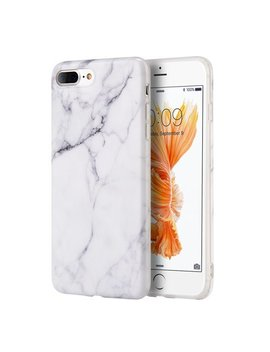 Luxury Marble Design Pattern Soft Tpu Phone Case Cover For Apple I Phone 8 Plus I Phone 7 Plus 5.5inch   White by Epic Dealz