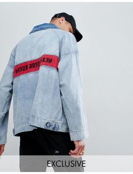 Sixth June Denim Overhead Jacket With Back Logo Exclusive To Asos by Sixth June