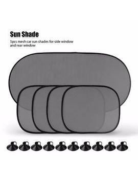 5 Pcs Car Window Sun Shade Visor Screen Protector Kids Rear Side Blind Black by Ebay Seller