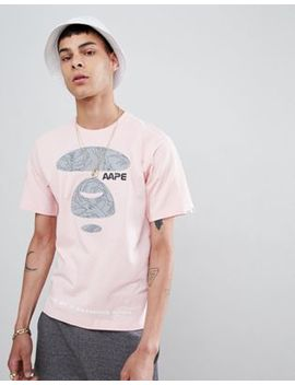 Aape By A Bathing Ape Nasa T Shirt With Triangle Back Print In Pink by Aape By A Bathing Ape