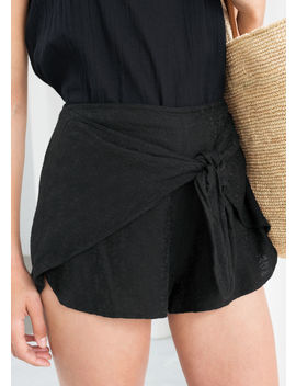 High Waisted Tie Shorts by & Other Stories