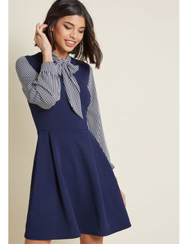 Smak Parlour Zest By Request A Line Dress In Navy In S by Smak Parlour