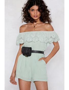 You Seem A Little Off The Shoulder Romper by Nasty Gal