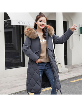 2018 Winter Jacket Women Colorful Big Fur Hooded Thick Down Parkas Long Female Jacket Coat Slim Warm Winter Outwear by Yenisey