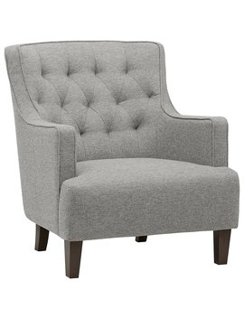 "Stone & Beam Decatur Modern Tufted Accent Chair, 31"" W, Silver by Stone & Beam"