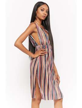 Striped Micro Pleated Dress by Forever 21