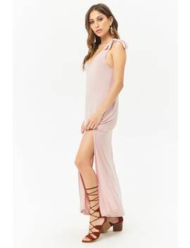 An M Side Slit Maxi Dress by Forever 21