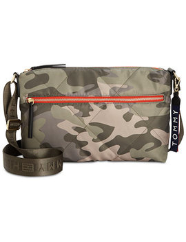 Kensington Camo Quilted Nylon Crossbody by Tommy Hilfiger