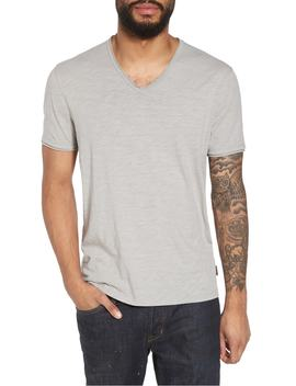 Slim Fit Slubbed V Neck T Shirt by John Varvatos Star Usa