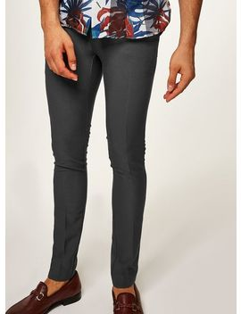 Charcoal Smart Spray On Pants by Topman