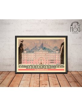 The Grand Budapest Hotel Poster   Quote Retro Movie Poster   Movie Print, Film Poster, Wall Art, Wes Anderson Print by Etsy