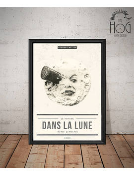 Le Voyage Dans La Lune   A Trip To The Moon Poster   Unique Retro Movie Poster   Film Print, Wall Art, Movie Print by Etsy