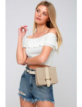 Mariella Beige Belt Bag by Lulu's