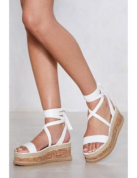 Up Your Game Platform Sandal by Nasty Gal
