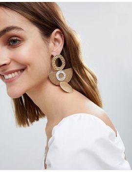 Asos Design Organic Shape Drop Earrings by Asos Design