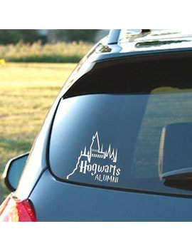 """Hogwarts Alumni Castle   6"""" Car Truck Vinyl Decal Art Wall Sticker   Harry Potter Movies Books (White) by Signage Cafe"""