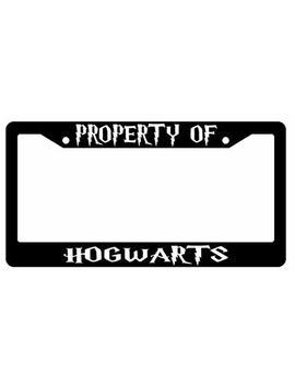 Property Of Hogwarts Black Plastic License Plate Frame Harry Potter by Gsf Frames