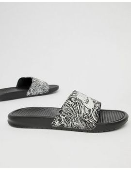 Nike Benassi Jdi Print In Black 631261 006 by Nike