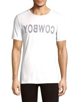 Cowboy Cotton Tee by Helmut Lang