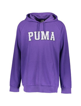 Purple Embroidered Hoodie by Puma