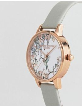 Olivia Burton Ob16 Pp22 Painterly Prints Leather Watch by Olivia Burton