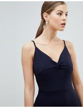 Ax Paris Knot Front Mini Dress by Asos