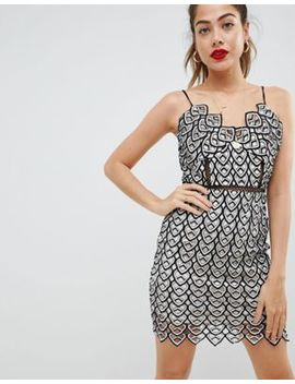 Missguided Crochet Detail Strappy Mini Dress by Missguided