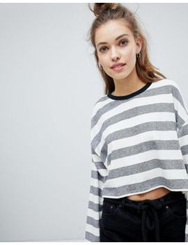 Pull&Bear Stripe Sweat by Pull&Bear