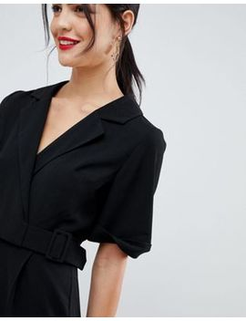 Asos Design Wrap Jumpsuit With Self Buckle by Asos Design