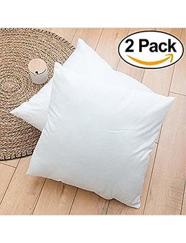 "Rohi Set Of 2 Hypoallergenic Cushion Pad Stuffer Pillow Insert Sham Square Polyester, Standard / White – Made In Uk (Pack Of 2 | 20"" X 20"") by Amazon"