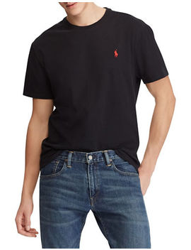 Custom Slim Fit Cotton T Shirt by Polo Ralph Lauren