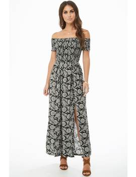 Ornate Smocked Maxi Dress by Forever 21