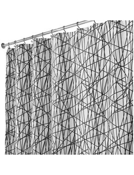 Inter Design Abstract Fabric Shower Curtain, Various Sizes by Inter Design