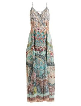 Sisters Of Marigold Silk Wrap Dress by Camilla