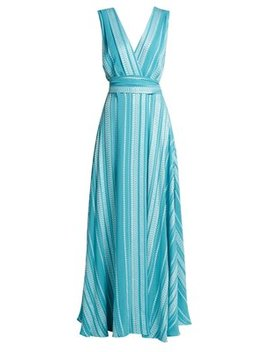 Isidora Embroidered Silk Blend Maxi Dress by Zeus + Dione