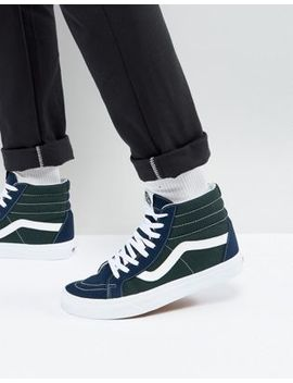 Vans Sk8 Hi Reissue Trainers In Blue Va2 Xsbqx1 by Vans