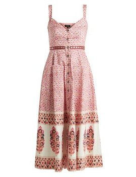 Fara Printed Cotton Blend Dress by Saloni
