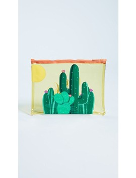 Transparent Cactus Beach Pouch by Sunny Life