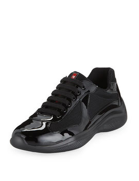 Men's America's Cup Vernice Low Top Bike Sneakers by Prada