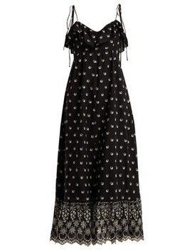 Moonbeams Floral Embroidered Dress by Athena Procopiou