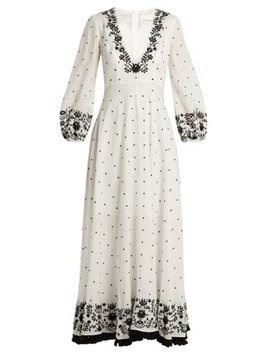 Tali Embroidered Linen Maxi Dress by Zimmermann