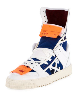 Men's High 3.0 Leather High Top Sneakers by Off White