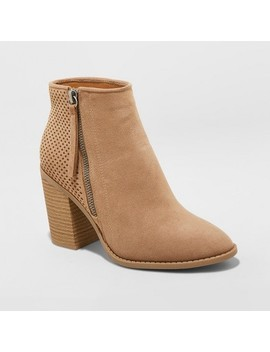 Women's Crissy Laser Cut Heeled Ankle Booties   Universal Thread™ by Universal Thread™