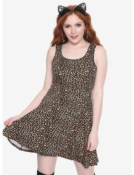 Leopard Print Skater Dress by Hot Topic