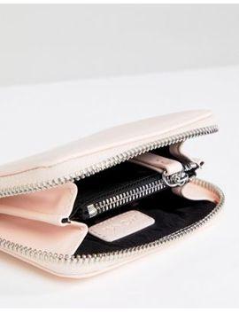 Monki Faux Leather Zip Purse In Pink by Monki