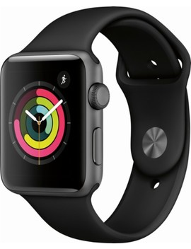 Geek Squad Certified Refurbished Apple Watch Series 3 (Gps), 42mm Space Gray Aluminum Case With Black Sport Band   Space Gray Aluminum by Apple