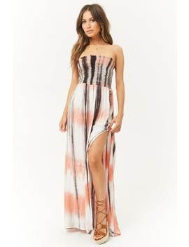 Tie Dye Tube Maxi Dress by Forever 21
